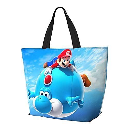 Bolsa de hombro multifuncional de gran capacidad, para videojuegos, héroes de Super Mario