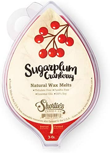 Sugarplum Cranberry All Natural Soy Wax Melts 1 Highly Scented 3 Oz Bar Made with Responsibly product image