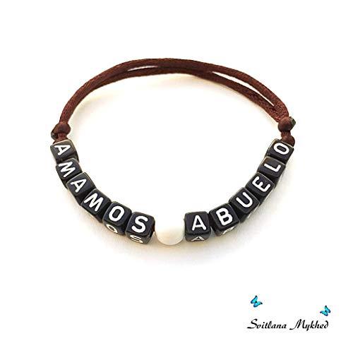 Namensarmband (reversibel, anpassbar) AMAMOS ABUELO Mann, Frau, Kind, Baby, Neugeborenes.