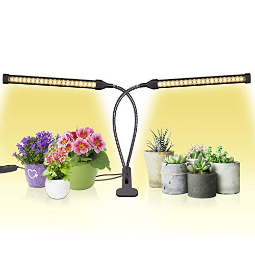 Sondiko Grow Light, Auto ON & Off Every Day Full Spectrum Sunlike Grow Lamp with 3/9/12H Timer, Adjustable Gooseneck 10 Dimmable Levels&3 Switch Modes for Indoor Plants