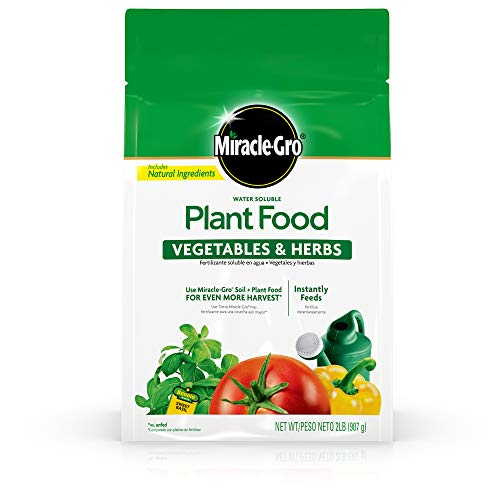 Miracle-Gro Water Soluble Plant Food Vegetables and Herbs, 2 lb.
