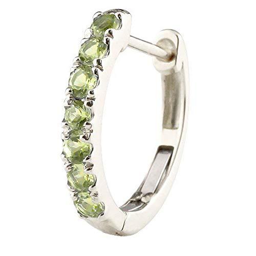 [アトラス] Atrus ピアス メンズ 片耳 pt900 プラチナ900 ペリドット フープピアス 中折れ式 8月誕生石 天然石 緑の宝石
