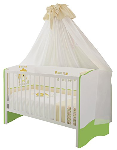 Polini Kids Kombi-Kinderbett 140 x 70 cm weiß-grün