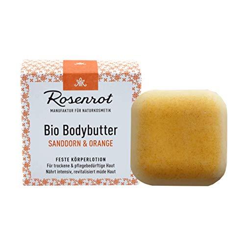 Rosenrot Naturkosmetik - Bio Bodybutter - Sanddorn & Orange - 70g - Für trockene & pflegebedürftige Haut - Nährt intensiv & revitalisiert müde Haut