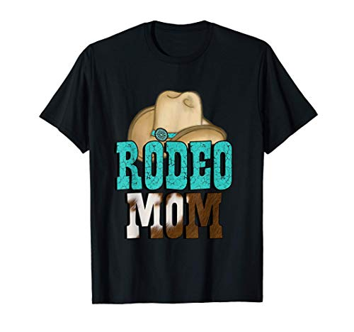 Turquoise Rodeo Decor Graphic Rodeo Mom 2 T-Shirt