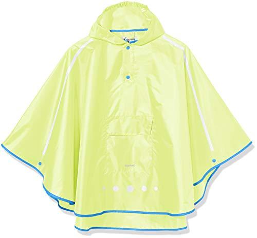 Playshoes Unisex Kinder Regenponcho faltbar Regenjacke, Neongelb 43, L