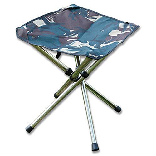 CHENGGUO Superleichter faltender Aluminiumfischen-Skizzen-Stuhl, Klappstuhl im Freien, Mazar, kann 220 Pfund tragen, Größe: 11.8in × 10.6in × 10.6in (Farbe : Green Camouflage)