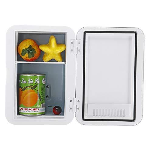 JenNiFer 6L Mini Refrigerador Dormitorio Doméstico De Una Sola Puerta Coche Casero Doble Uso Refrigerador De Coche - Doble