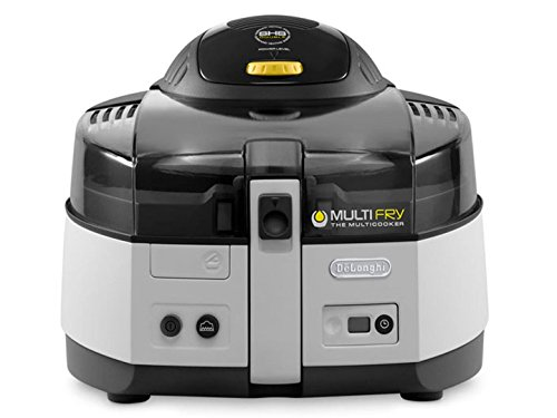 De\'Longhi Heißluftfritteuse MultiFry CLASSIC FH1163 Multicooker mit 4-in-1 Funktion, auch zum Brotbacken, 1500 Watt, grau