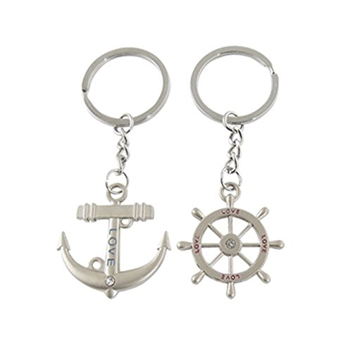 High Quality Love You Sweet Lovers Love You Couple Metal Keychain & Keyring with Gift Box