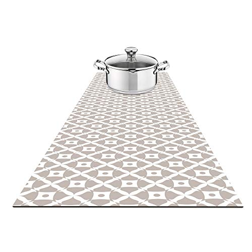Fennoma Hotrun 2 in 1 Trivet and Decorative Table Runner Handles Heat Up to 356F, Anti Slip, Waterproof, and Convenient for Hot Dishes and Pots (Deco)