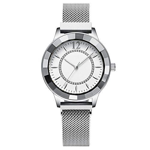 Eantpure Militar Deportivo Analógico,Impermeable, Reloj de Cuarzo, Reloj de Moda para Mujer-C,Fashion Business Watch