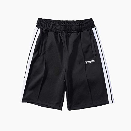 Palm Angel Shorts for Women and Men Casual Summer, PA Running Shorts, Men's Active Athletic Performance Shorts with Pockets, Casual Beach Pants Training Pants Sports Shorts,Black,M