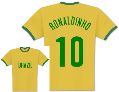 World of Football Player Shirt Brasilien Ronaldinho - 164