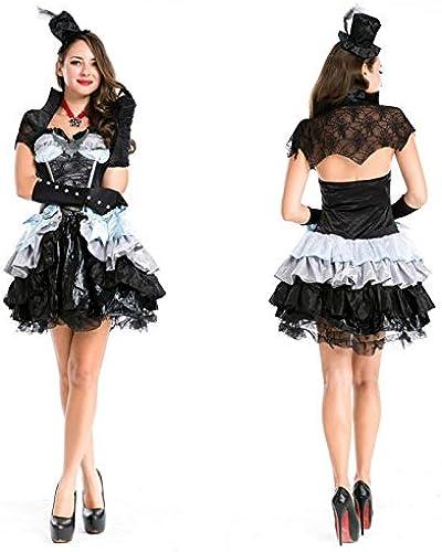 Simmia Halloween Kostüm,Halloween Hexenkostüm DS Halsband Tanz Teufel Geladen Halloween Spiel Uniform Versuchung K gin Pettiskirt, Wie Gezeigt, U