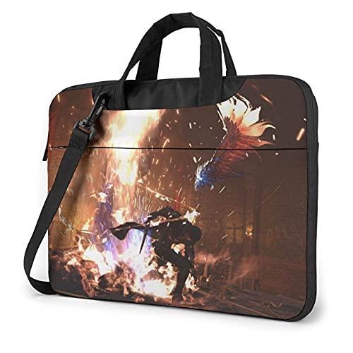 XCNGG Final Fantasy Laptop Bag Tablet Maletín portátil Funda protectora Funda Messenger Bolsas de 14 pulgadas