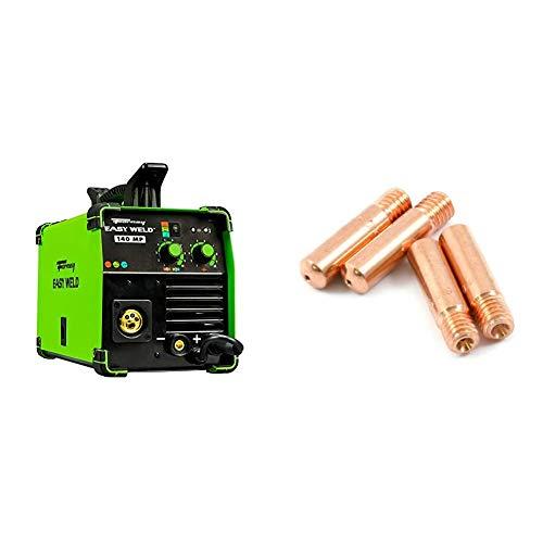 Forney Easy Weld 140 MP, Multi-Process Welder & 60172 Contact Tip For Mig Welding, Tweco Binzel or Clarke.035, 4-Pack,Copper
