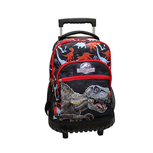 CYP BRANDS- Mochila Trolley Fijo Jurassic World, Multicolor (MC-24-JW)