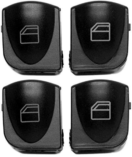Twowinds Fensterhebers Schalter linken und rechten Tasten Abdeckungen C-Klasse W203 A2038210679 (4 Tasten)