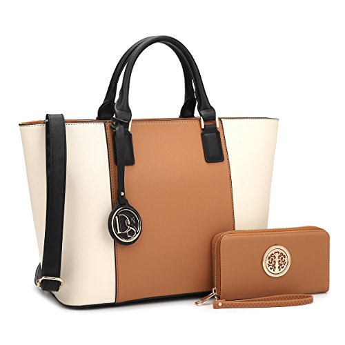 DASEIN Women's Handbags Purses Large Tote Shoulder Bag Top Handle Satchel Bag for Work