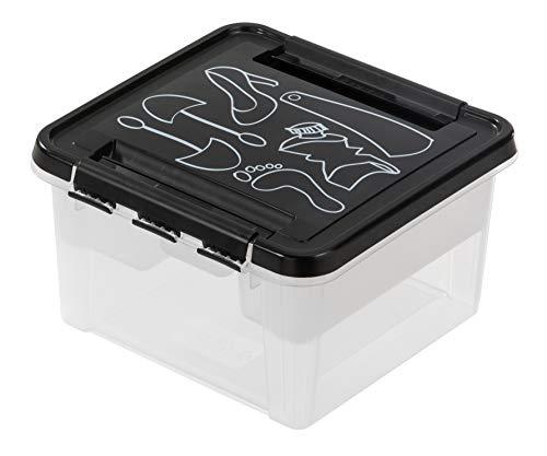 SmartStore 3168290 Boite déco Chaussure, Polypropylène, Noir, 28 x 28 x 17 cm