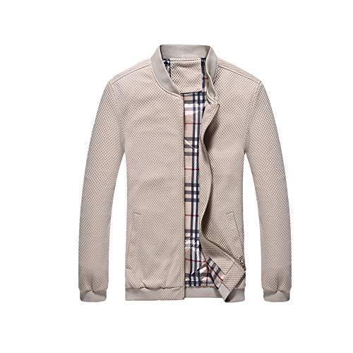 NOBRAND Herren Neue Casual Strickjacke Kragen Jacke Große Mantel Mode Jugend Mantel Gr. XL, khaki