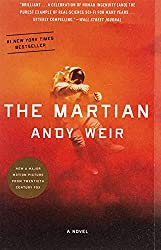 "Cover of Andy Weir's, ""The Martian."""