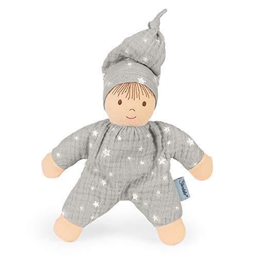 Sterntaler Spielpuppe, Integrierte Rassel, Alter: Für Babys ab der Geburt, 17 cm, Hellgrau