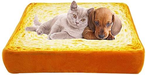 FFSM Brot Kissen Simulation Warm Bread Bett Kissen Katze Schlafmatte Toast Kissen Pet Schlafkissen plm46