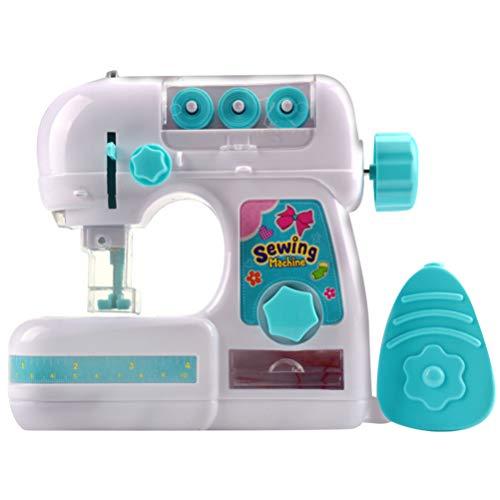 TOYANDONA 1 Piezas Mini Máquina de Coser Eléctrica Conjunto de Juguetes de Coser Electrodomésticos Conjunto de Juguetes para Niña Guardería Hogar Escuela