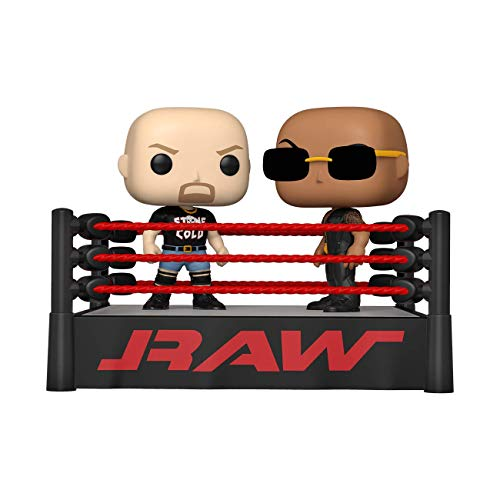 Funko- Pop Moment WWE The Rock vs Stone Cold in Wrestling Ring (54661)