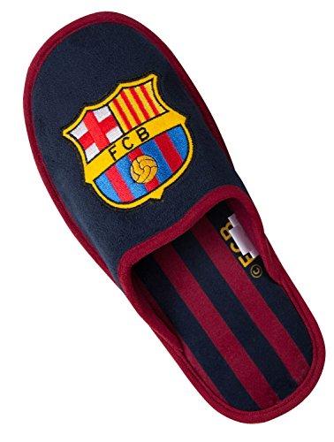 Herren-Hausschuhe Barça, offizielles Produkt des FC Barcelona, Erwachsenengröße 46 blau