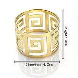 Gold Silber Serviettenringe, 6/12 Stück Metall Serviettenschnallen für Hochzeitsfeier Abendessen Jubiläum Tischdekoration - 7