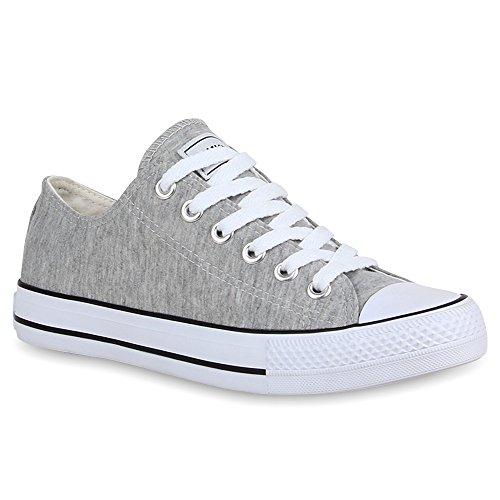 stiefelparadies Unisex Damen Herren Sneakers Sportschuhe Schnürer Schuhe 24762 Hellgrau Ambler 42 Flandell