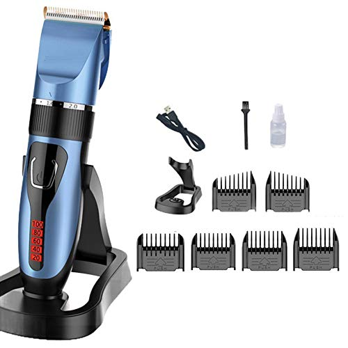 Dušial Hair Clippers for Men Professional Kit Cordless Beard Shaver Electric Haircut with Combs LED Display