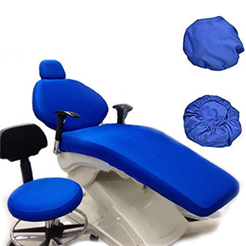 4 Teile/Satz Dental Unit Stoffstuhl Abdeckung, Elastisch Schutzhülle Kopfstütze Rückenlehne Schutz Zahnarzt Ausrüstung, Blau