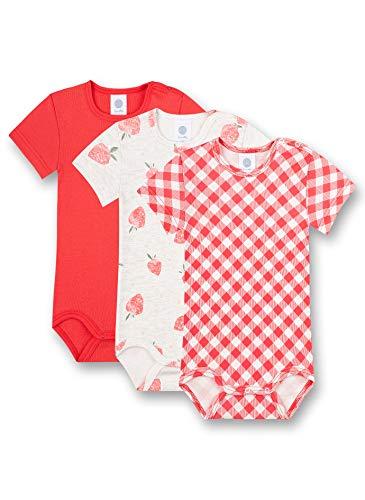 Sanetta Baby-Mädchen Body im Set rosa Kleinkind Unterwäsche-Satz, Coral pink, 080
