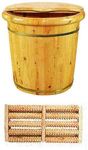 Voetbad Spa Barrel houten voetenbad pedicure kom voor inweken voeten massageapparaat voetverzorging - Pine Cypress Zonder deksel.
