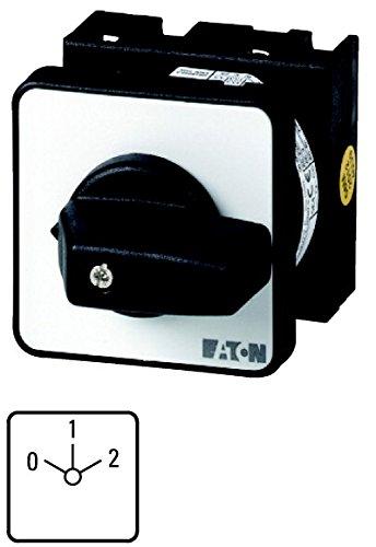 Eaton 041222 Polumschalter, Kontakte: 8, 20 A, Dahlander-Schaltung, 2 Drehzahlen, Frontschild: 0-1-2, 60 Grad, Rastend, Einbau