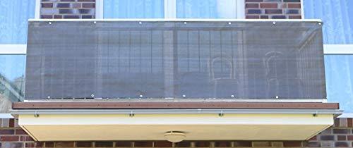 Smart Deko Anthrazit 90x700cm Balkonsichtschutz, Balkonverkleidung, Windschutz, Sichtschutz und UV-Schutz für Balkon, Gartenanlagen, Camping und Freizeit (90x700cm)
