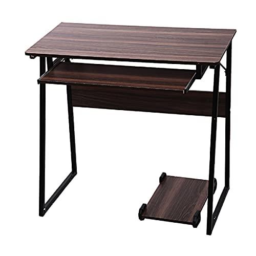 Escritorio de ordenador trapezoidal escritorio de escritorio de escritorio de estudio de escritorio de oficina con teclado y soporte de mainframe para el hogar oficina estudio escritorio de estudiante