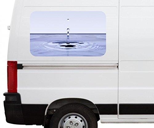 Autoaufkleber Wassertropfen fallender Wasser Car Wohnmobil Auto tuning Digital Druck Fenster Sticker LKW Bild Aufkleber 21B732, Größe 3D sticker:ca. 161cmx 96cm