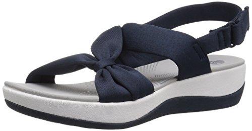 Clarks Women's Arla Primrose Sandal, Blue Heathered Fabric, 8 Medium US