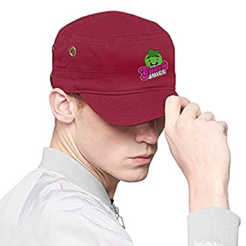 Patrick R Garrett Unisex Guava-Juice Adult Flat Cap Fashion Print Dad Hats Casquette Snapback Flat Bill Hat Hip Hop Red