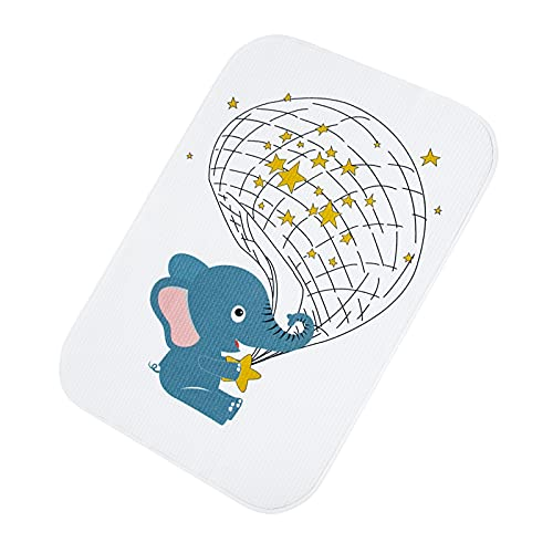 Catteyonce Diaper Changing Pad, Large Waterproof Portable Changing Mat Reusable, Perfect for Toddlers Infants and Newborns Boys Girls, 23.6 x 35.4 Inches (Elephant)