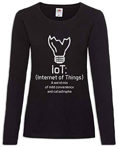 Internet of Things I Mujer Camiseta de Manga Larga Tamaños XS - 2XL