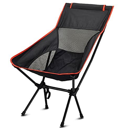 Silla de camping plegable al aire libre resistente Sillas plegables ultraligeras, construcción de malla transpirable Silla de camping portátil Silla de mochila en una bolsa para al aire libre, campame