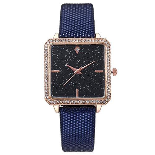 JZDH Relojes para Mujer Moda Multi - Color Creative Star Business Watch Tiene Una Pulsera De Temperamento Femenino para El Reloj De Moda De La Mujer Relojes Decorativos Casuales para Niñas Damas