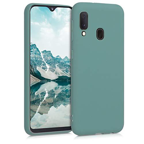 kwmobile Hülle kompatibel mit Samsung Galaxy A20e - Handyhülle - Handy Case in Blaugrün