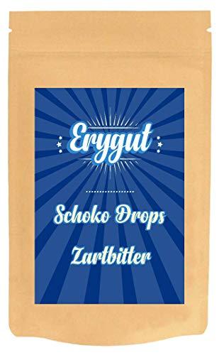 Erythrit Schokodrops Zartbitter 800g | Schokoladen Drops ohne Zuckerzusatz und gesüßt mit Erythritol und Stevia | mit 80% Kakao-Anteil